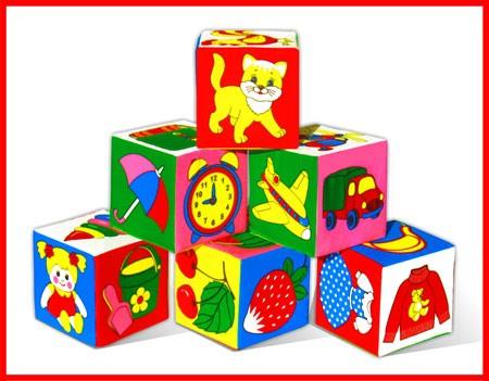 Кубики мягкие: Предметы - Мякиши