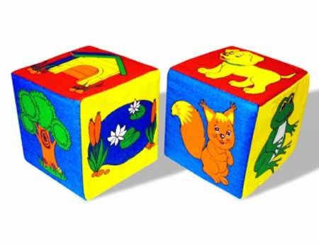 Кубики мягкие: Чей домик - Мякиши