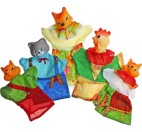 Кукольный театр: Кот, петух и Лиса – Русский Стиль