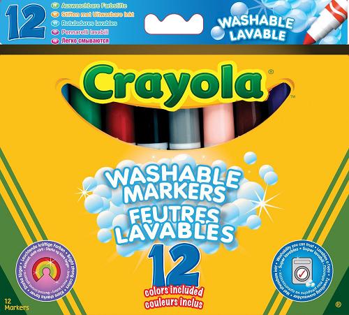 Фломастеры: Супер-чисто, 12 цветов - Crayola