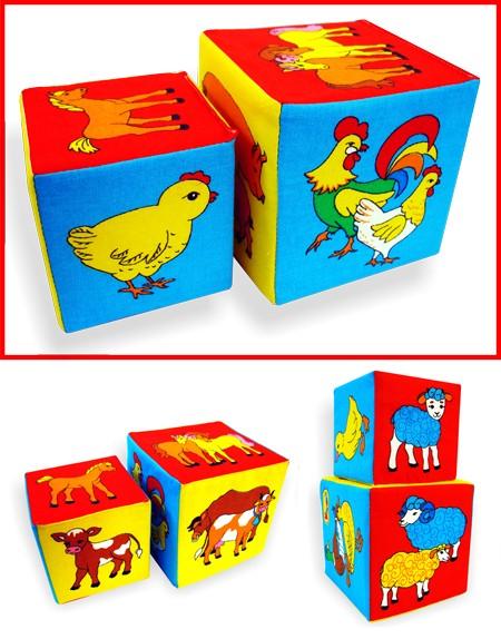 Кубики мягкие: Чей детеныш - Мякиши