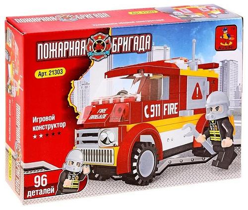 Конструктор Пожарная бригада, 96 элементов - Ausini