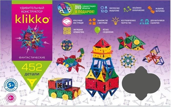 Конструктор Klikko: 452 детали - ЗНАТОК