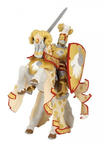 Фигурка: Мастер оружия и его конь, Рыцарь золотого тельца - Papo
