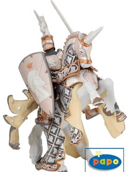Фигурка: Мастер оружия и его конь, Рыцарь единорога - Papo