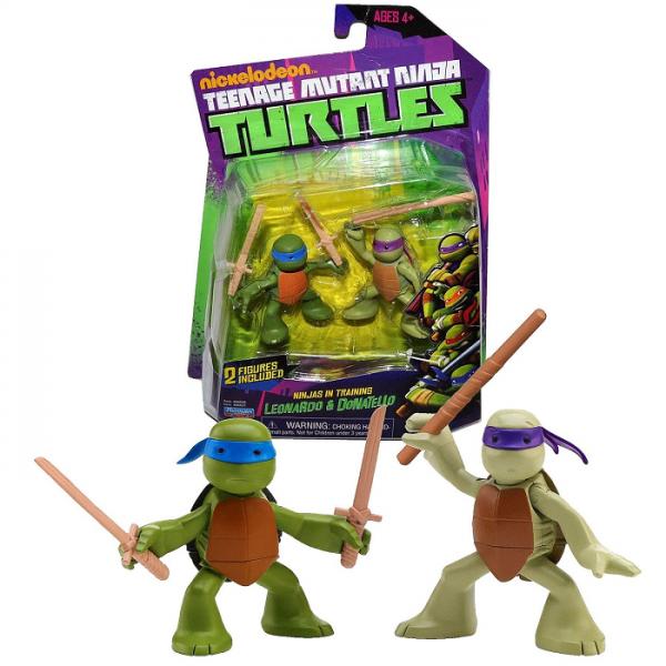 Черепашки Ниндзя: Лео и Донни, 2 фигурки - Playmates Toys