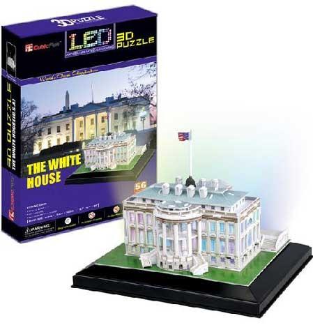 3D пазл: Белый дом с иллюминацией - Cubic Fun
