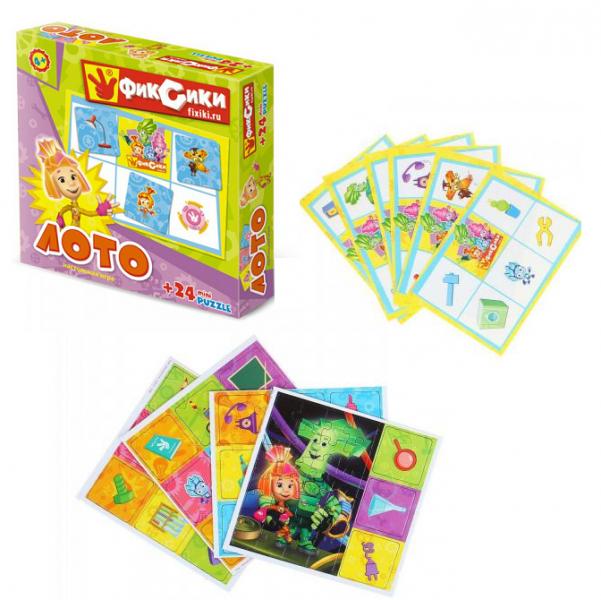 Настольная игра Фиксики - Лото + пазл 24 элемента - Origami