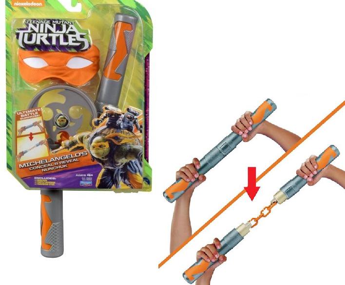 Черепашки ниндзя: Боевое оружие Замаскированные нунчаки Микеланджело - Playmates