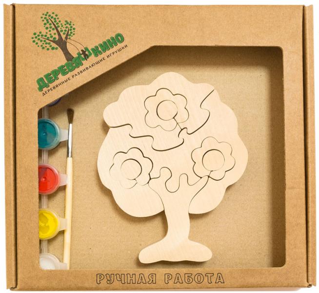 Набор для творчества Дерево в цветах - Деревяшкино