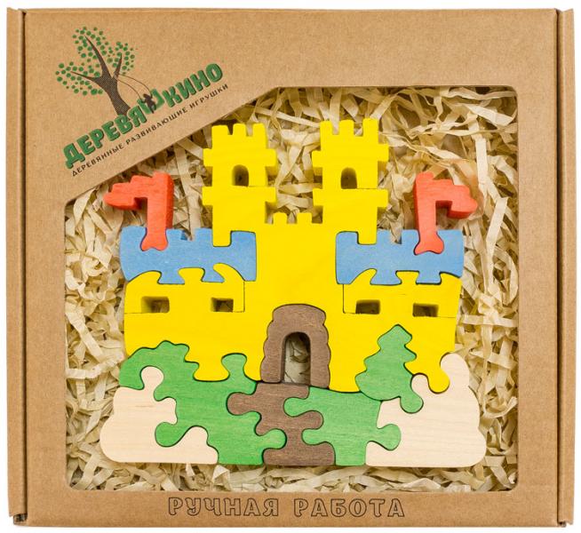 Деревянный пазл Замок с башнями (в коробке) - Деревяшкино
