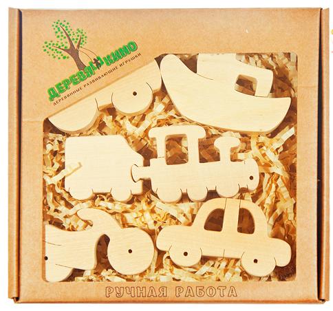 Набор деревянных фигурок Транспорт 2 - Деревяшкино