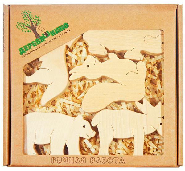 Набор деревянных фигурок В лесу - Деревяшкино