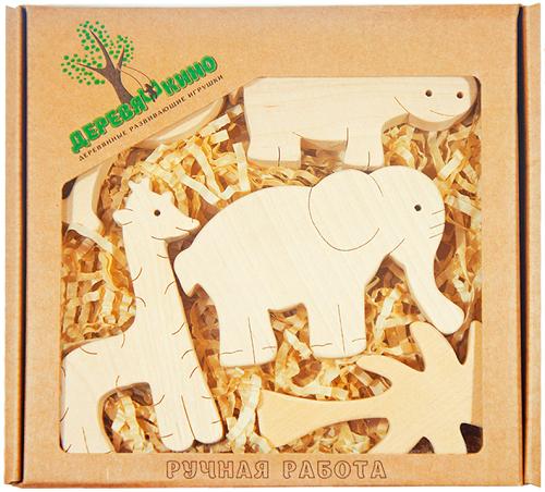 Набор деревянных фигурок Африка - Деревяшкино