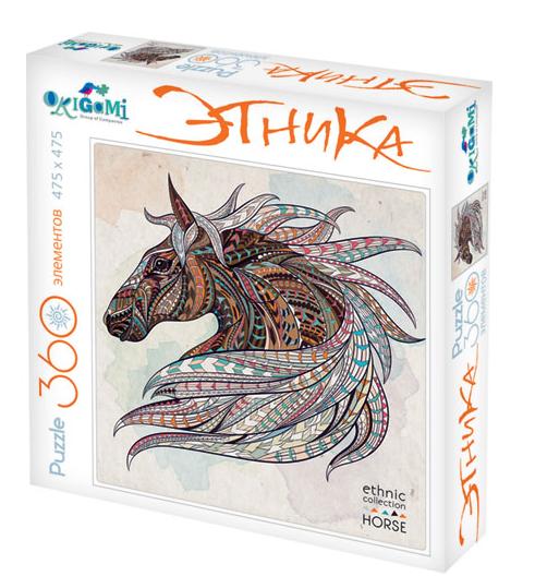 Пазл: Арт-терапия Лошадь, 360 элеентов - Origami Puzzle