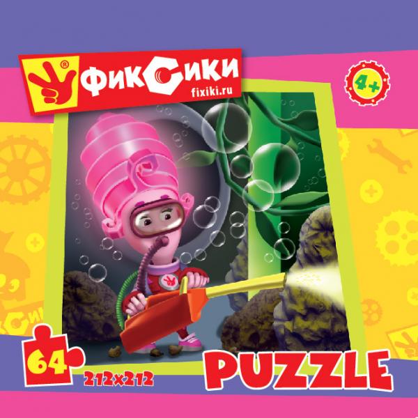 Пазл: Фиксики Мася с инструментом, 64 элемента - Origami Puzzle