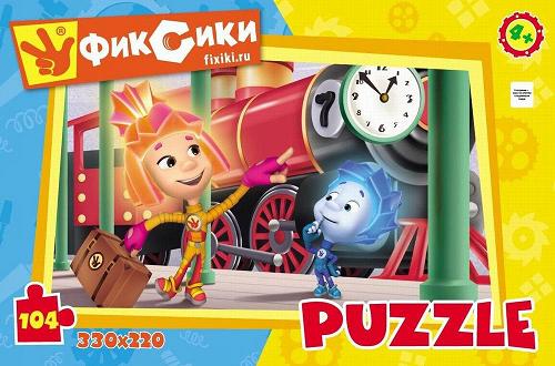 Пазл: Фиксики На вокзале, 104 элемента - Origami Puzzle