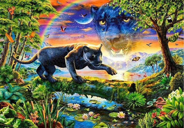 Пазл: Пантера, 1500 элементов - Castorland