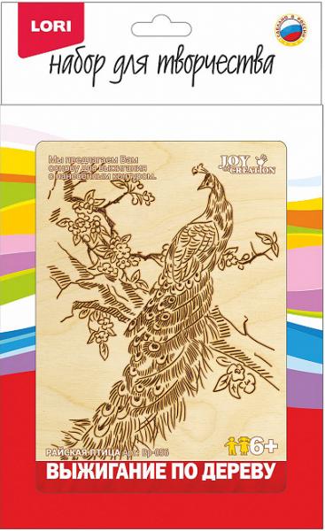 Выжигание в рамке: Райская птица - Лори
