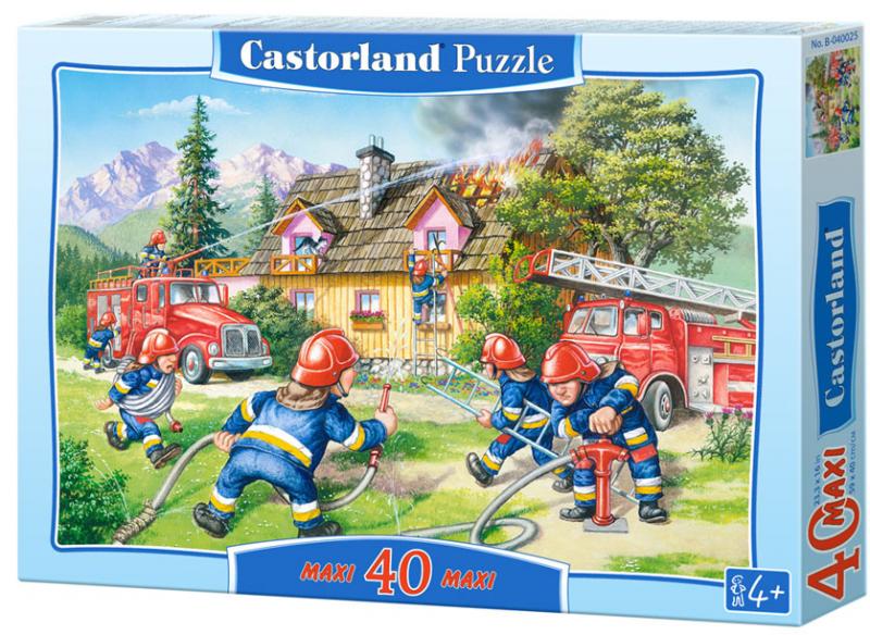Пазл макси: Пожарные, 40 элементов - Castorland