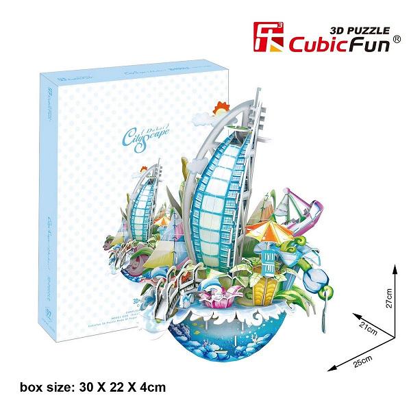 3D пазл: Городской пейзаж Дубаи - CubicFun