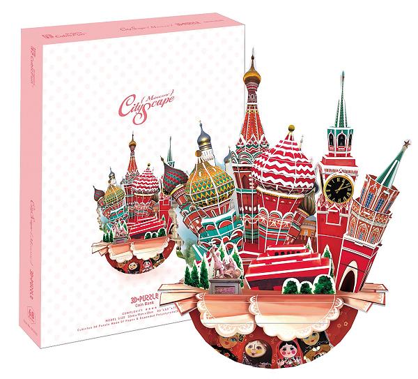 3D пазл: Городской пейзаж Москва - CubicFun