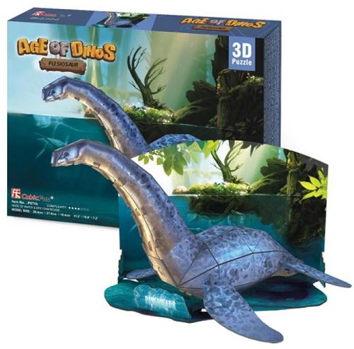 3D пазл: Эра Динозавров - Плезиозавр - CubicFun