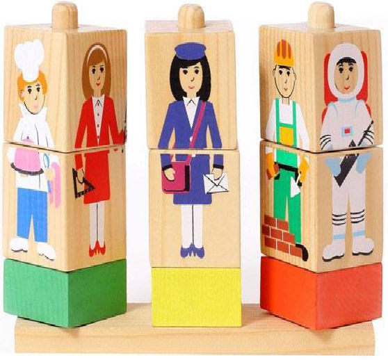 Кубики на палочке: Профессии - Томик