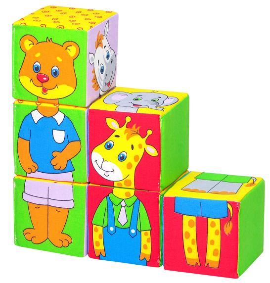 Кубики мягкие: Собери картинку. Зоопарк - Мякиши