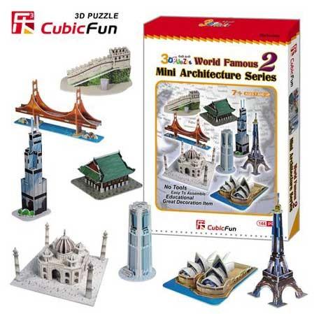 3D пазл: Набор архитектора 8 в 1 - CubicFun
