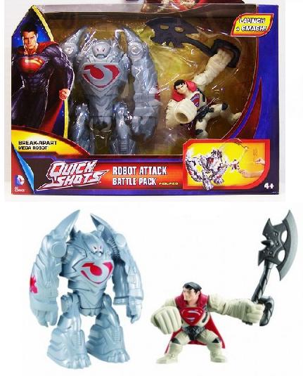 Супермен: Человек из стали Фигурка 8 см с аксессуарами – Mattel
