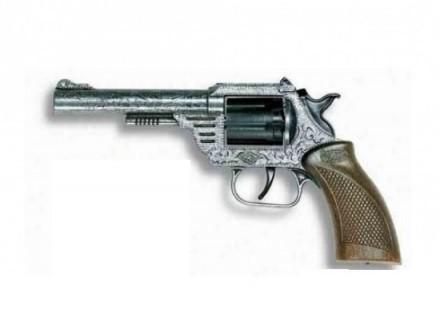 Игрушечный Револьвер Дакота Metall Western (8-зарядные круговые пистоны) - Edison Giocattoli