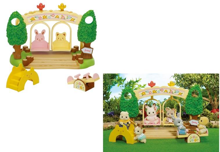 Набор Sylvanian Families: Детская площадка с качелями, без фигурок
