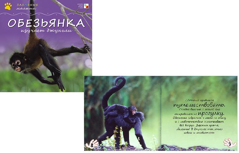 Книга: Забавные малыши. Обезьянка изучает Джунгли - Мозаика-Синтез