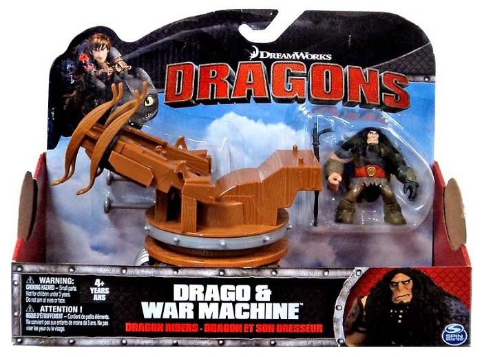 Dragons: Игровой набор Дракон и всадник. Драго и военная машина - Spin Master