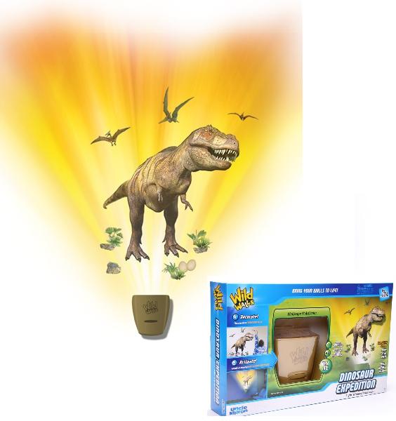 Проектор интерактивный настенный: Экспедиция с динозаврами – Uncle Milton