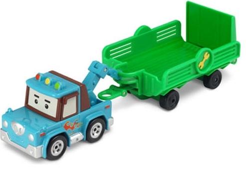 Робокар Поли: Машинка металличсеская Эвакуатор с прицепом Спуки – Silverlit