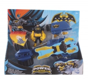 Бэтмен: Фигурка Бэтмен с боевым транспортом Combat Kick Bat-tank – Mattel