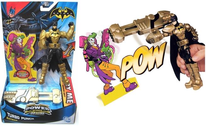 Бэтмен: Функциональная фигурка с оружием Turbo Punch - Mattel
