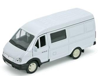 Модель машины ГАЗель Фургон с окном - Welly