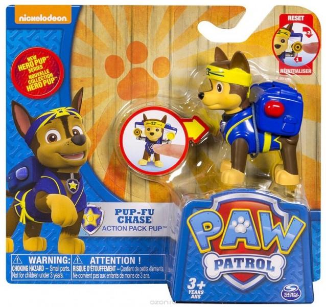 Paw Patrol: Фигурка спасателя с рюкзаком-трансформером NEW Гонщик– Spin Master