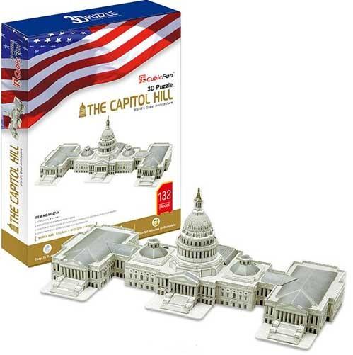 3D пазл: Капитолийский холм, большой - CubicFun