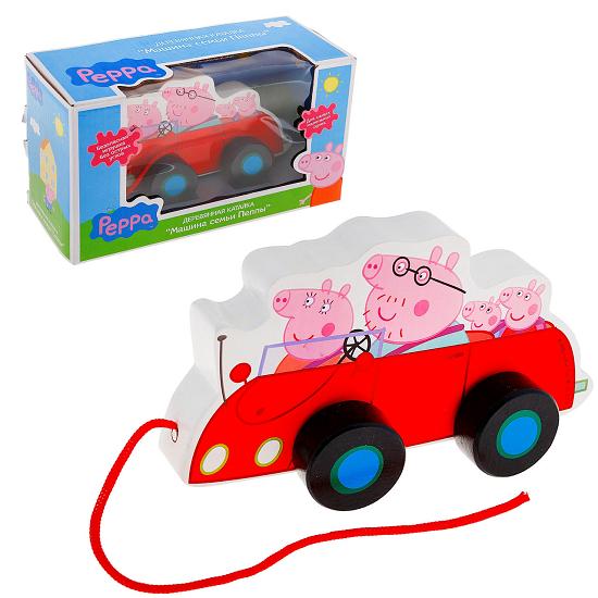 Свинка Пеппа: Каталка Машина семьи Пеппа - Росмэн