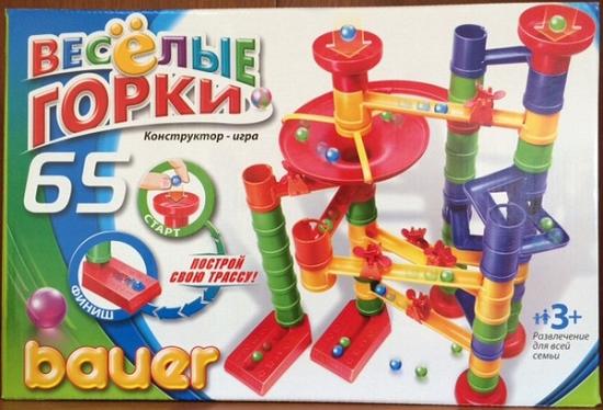 Конструктор Веселые горки: 65 элементов - Бауэр