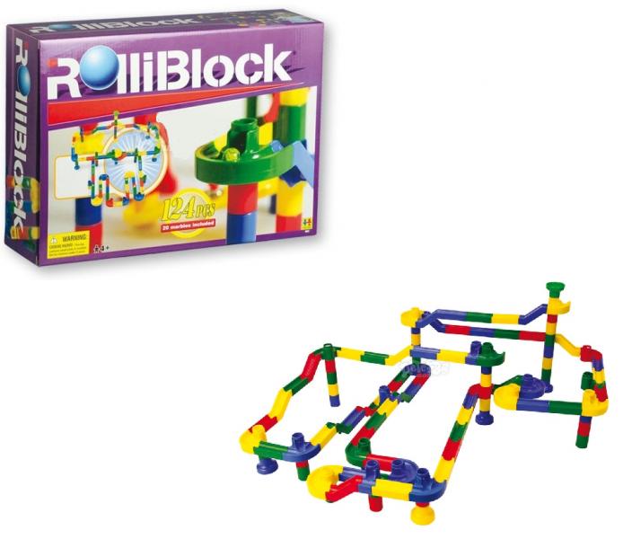 Конструктор RolliBlock: 124 детали +20 шаров - Toto Toys