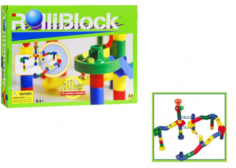 Конструктор RolliBlock: 50 деталей +10 шаров - Toto Toys