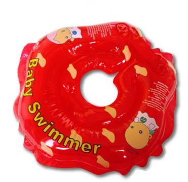 Круг для купания новорожденных красный, полноцветный - Baby Swimmer