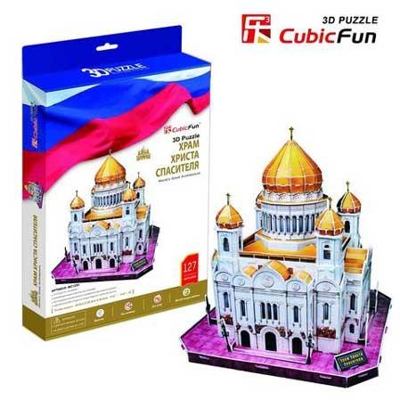 3D пазл: Храм Христа Спасителя, большой - Cubic Fun