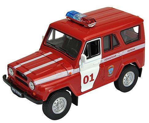 Модель машины УАЗ 31514 Пожарная охрана - Welly