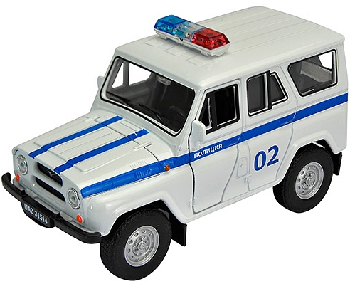 Модель машины УАЗ 31514 Полиция - Welly